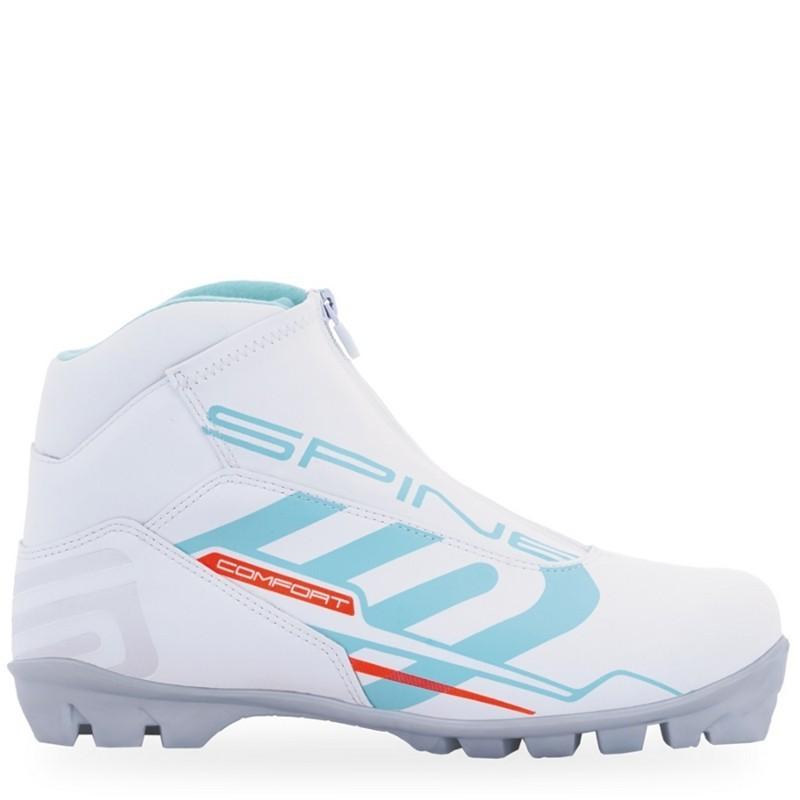Лыжные ботинки Spine NNN Comfort 83/4 белый/бирюзовый