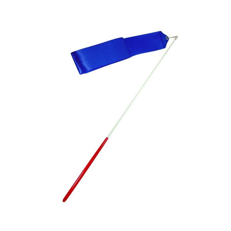 Лента для художественной гимнастики Amely AGR-201 6 м, с палочкой 56 см, синий