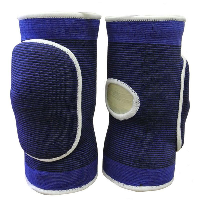 Наколенники волейбольные с дыркой NK-402 Синий\Белый