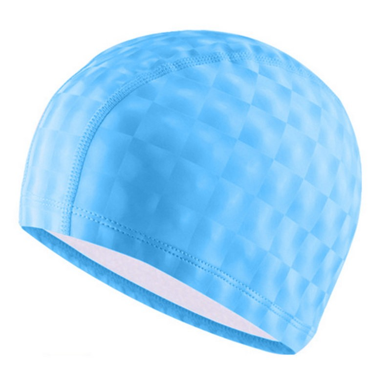 Шапочка для бассейна F11840 ПУ (голубой)