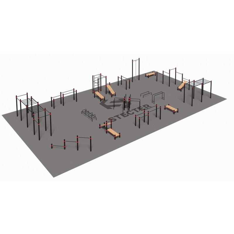 Проект Stecter Парковая площадка для Воркаут 4-3 5084