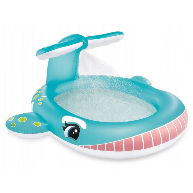 Детский надувной бассейн 201x196x91см Intex Кит, с распылителем 57440