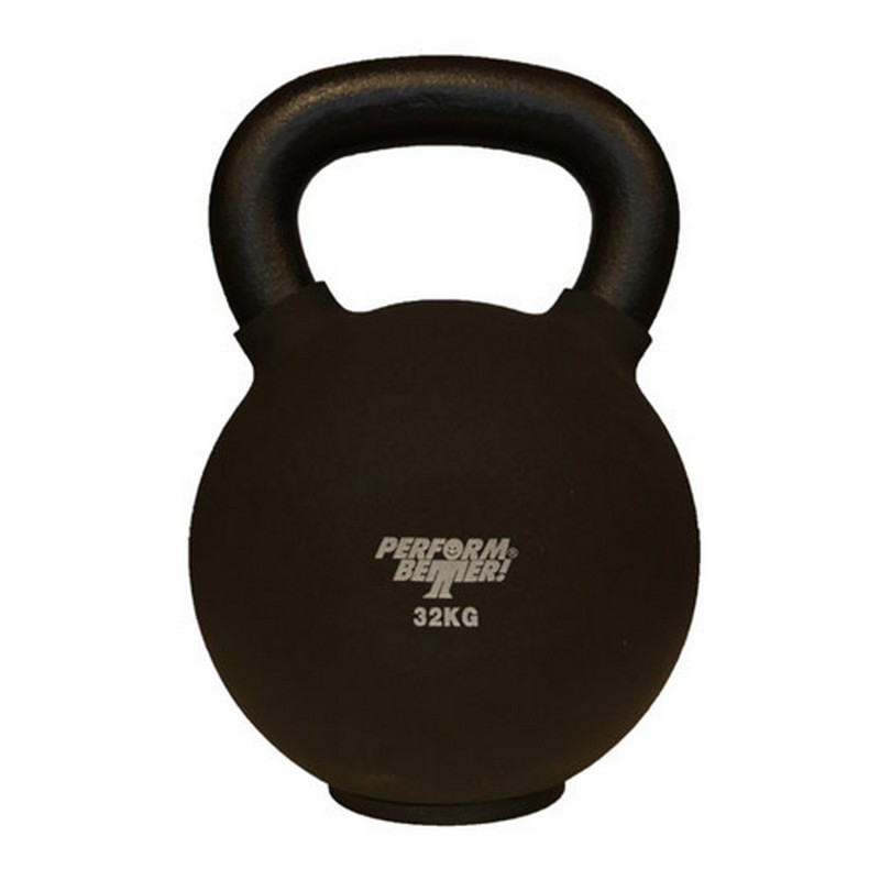 Обрезиненная гиря 32 кг Perform Better Neoprene Kettlebell 8945 черный