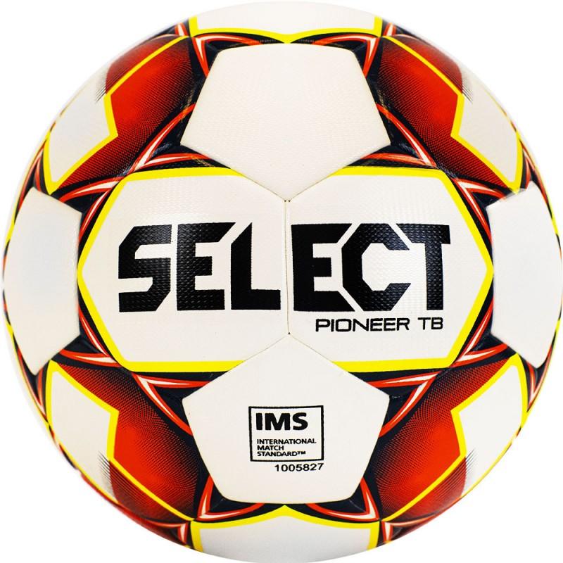 Мяч футбольный Select Pioneer TB 810221-274, р.5, бело-красно-желтый