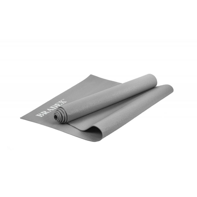 Коврик для йоги Bradex 173x61x0,3 SF 0398 серый