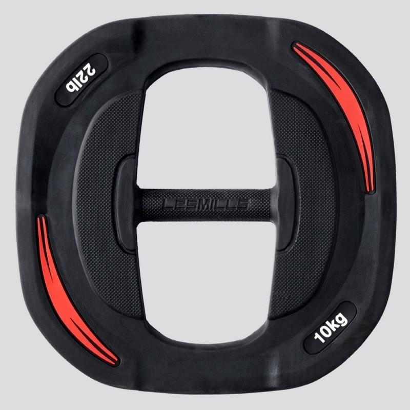 Весовой диск для штанги 10 кг Les Mills Smartbar 00140_02