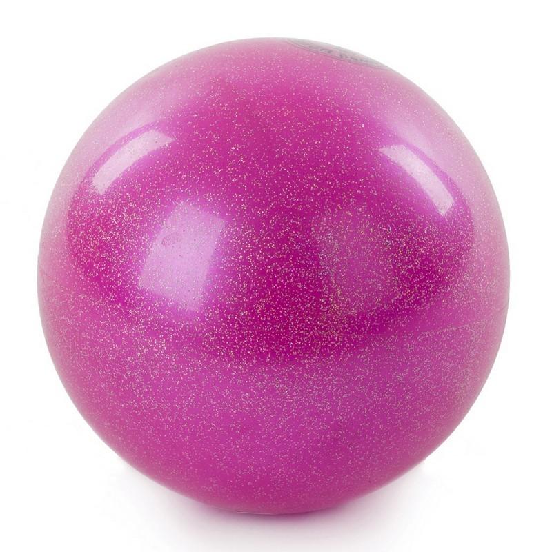 Мяч для художественной гимнастики 15 см AB2803B розовый металлик