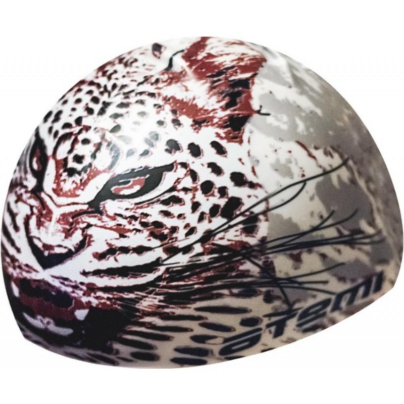 Шапочка для плавания Atemi PSC425 белая (леопард)