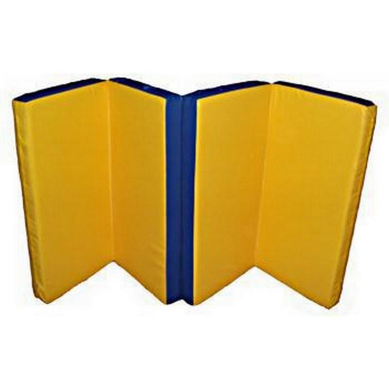 Мат гимнастический 4 сложения 100х200х10см Atlet IMP-A100