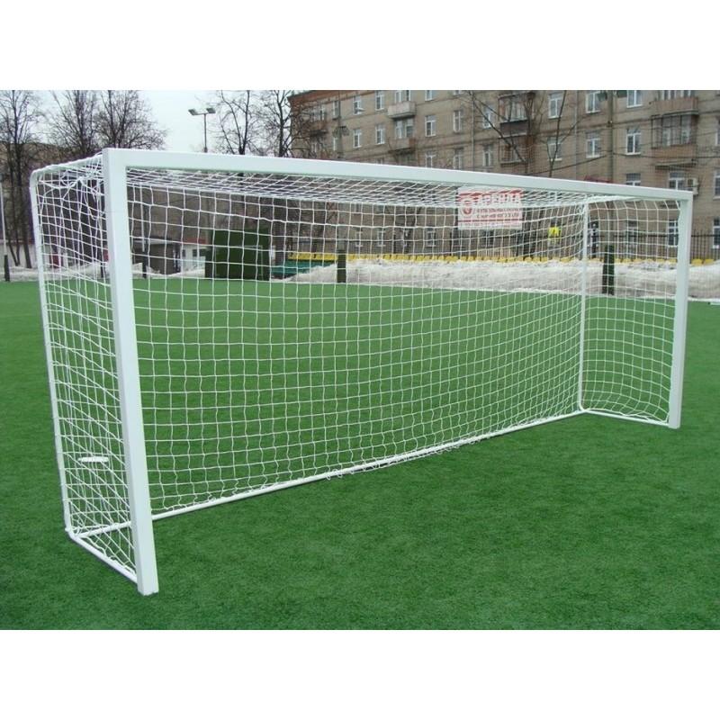 Ворота футбольные ПрофСетка алюм. цельные 5,6 х 2,35 м, профиль 80 х 80 мм (шт) 2458AL