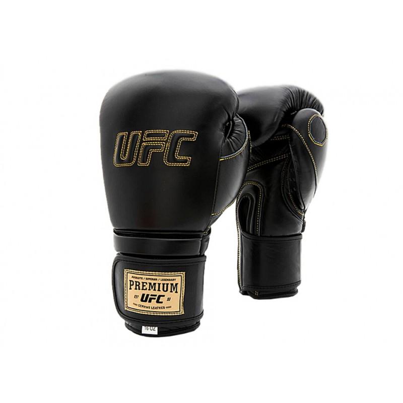 Боксерские перчатки UFC Премиальные тренировочные на липучке 12 унций UHK-75048
