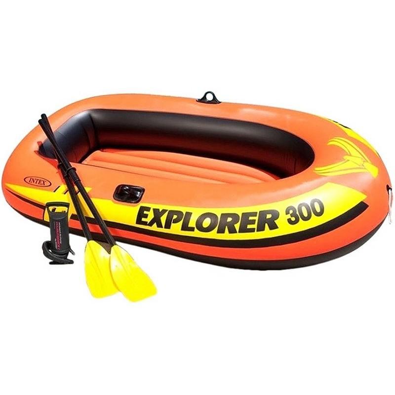 Надувная лодка Intex Explorer-300 Set трехместная 58332