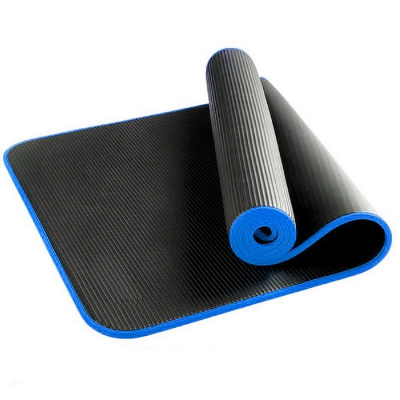 Коврик для фитнеса и йоги 183х61х1,2см Larsen NBR повышенной плотности