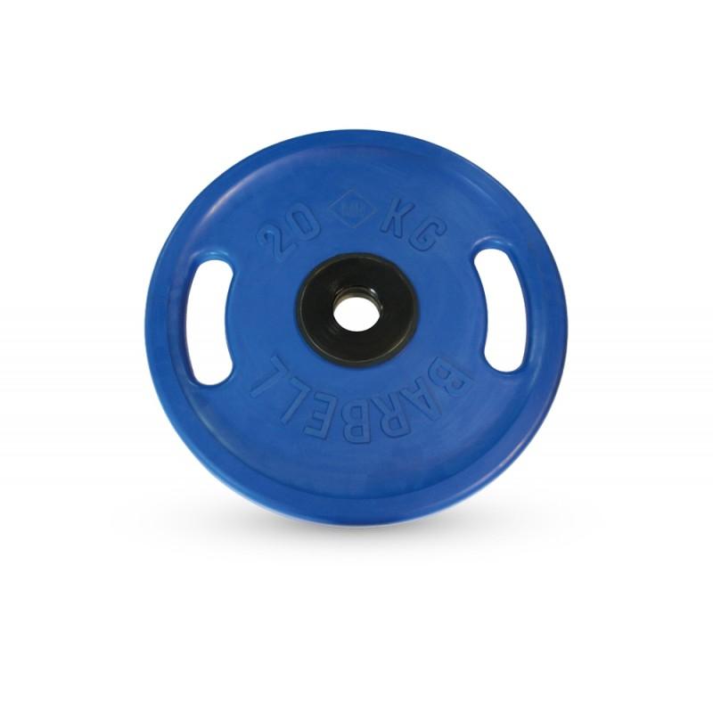 Диск олимпийский d51мм евро-классик с ручками MB Barbell MB-PltСS-20 20 кг синий
