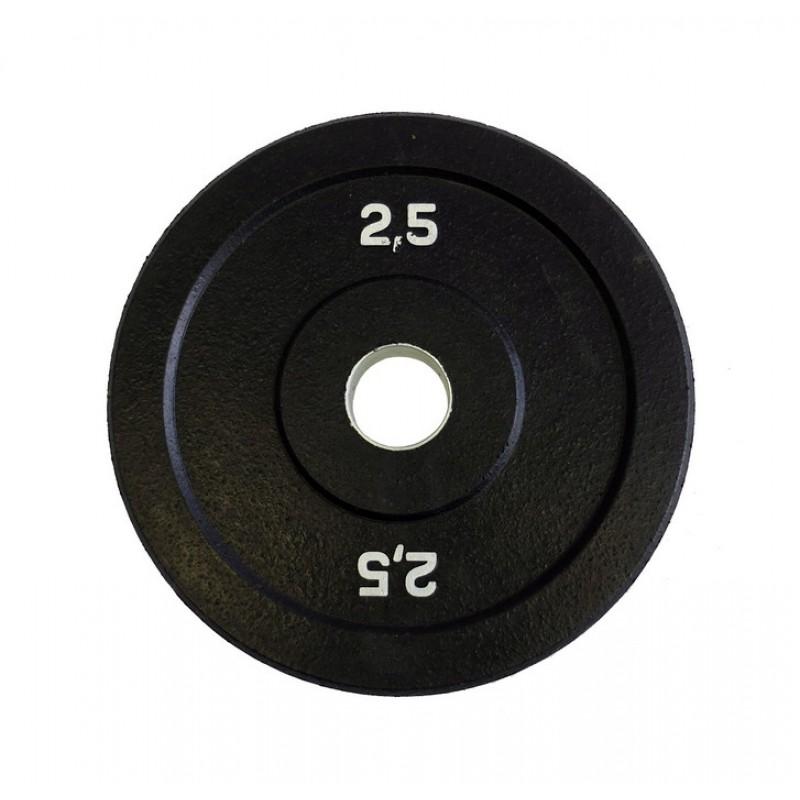 Диск бамперный Original Fit.Tools 2,5 кг (черный) FT-BPB-2,5
