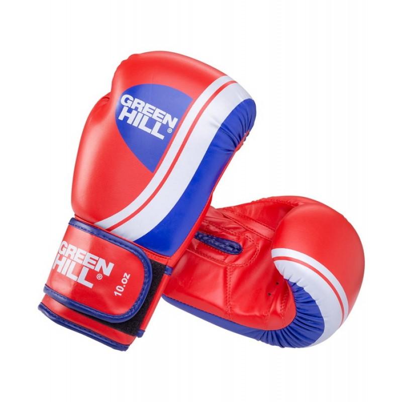 Боксерские перчатки Green Hill Knockout BGK-2266, 12 oz, к/з, красный