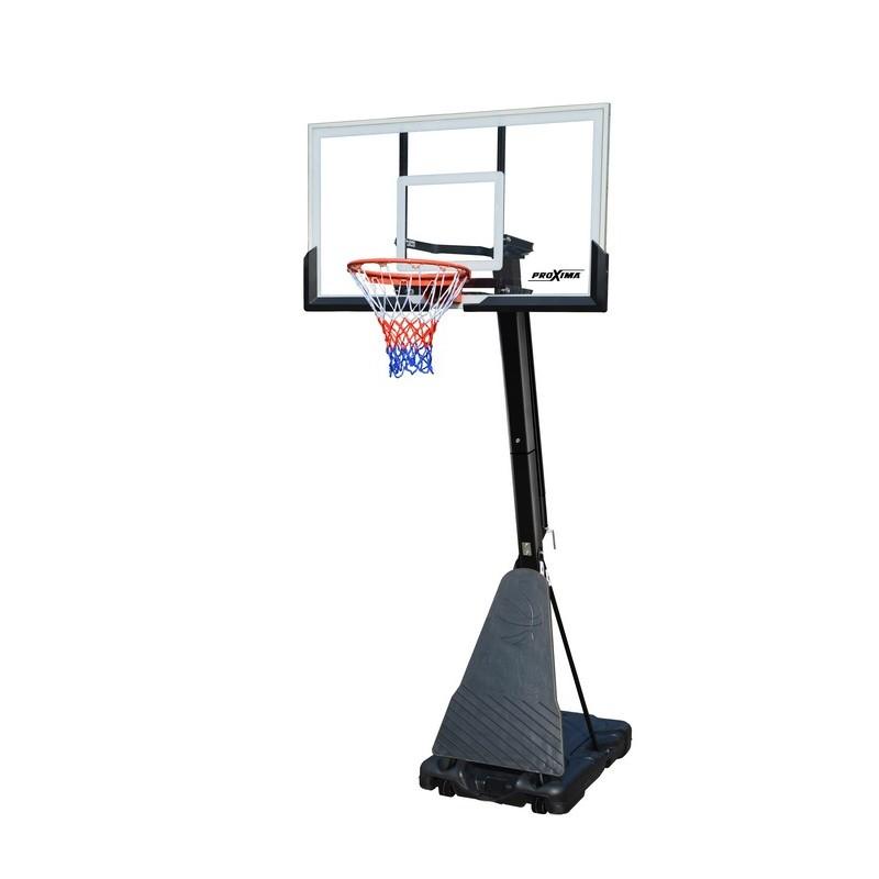Мобильная баскетбольная стойка Proxima 54 quot;, стекло, S027