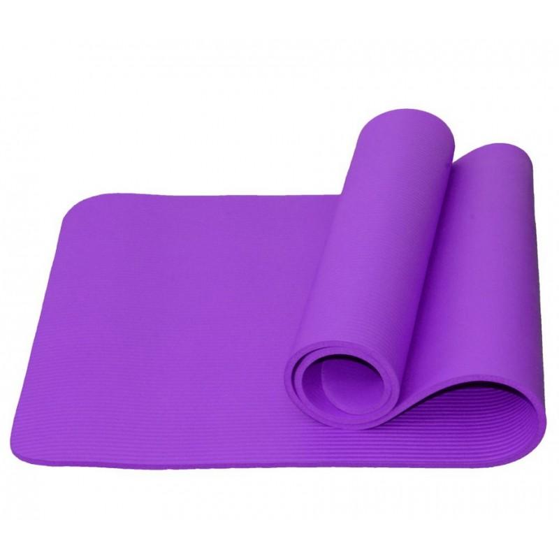 Коврик для йоги и фитнеса Atemi AYM05PL, NBR, 183x61x1,0 см, фиолетовый
