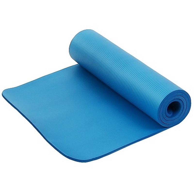 Коврик для фитнеса и йоги Larsen NBR 183х61х1,5см синий