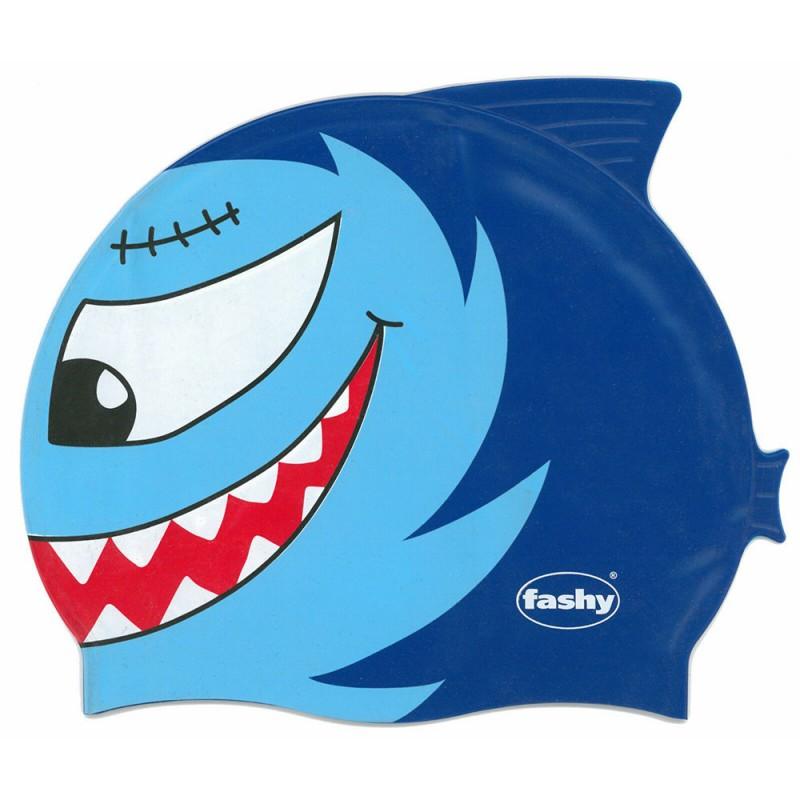 Шапочка для плавания детские Fashy Childrens Silicone Cap 3048-00-75, силикон, голубой