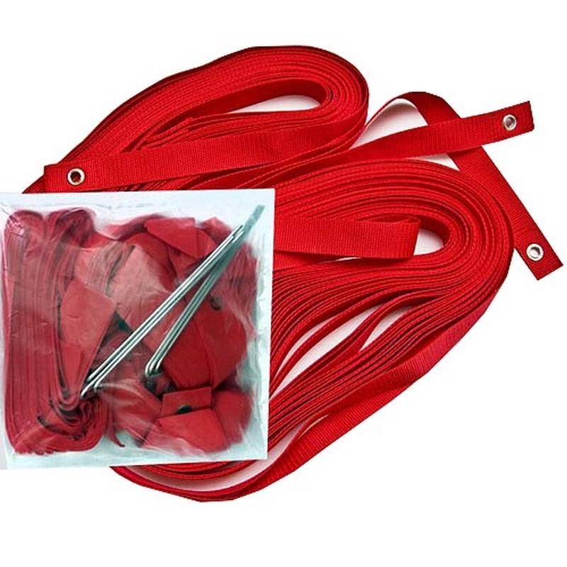 Комплект для разметки площадки для пляжного волейбола FS-R-№02 красный
