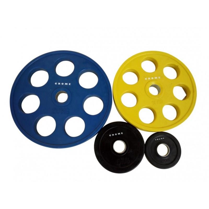 Диск олимпийский обрезиненный D 51 20 кг Grome Fitness WP013