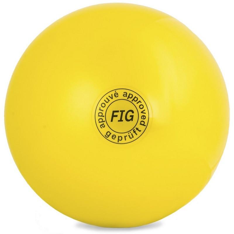 Мяч для художественной гимнастики 19 см GC 01 жёлтый