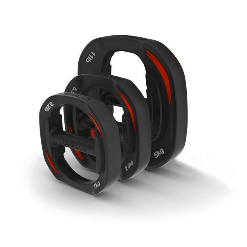 Набор весов для штанги Smartbar 2x1kg, 2x2.5kg, 2x5.0kg Les Mills