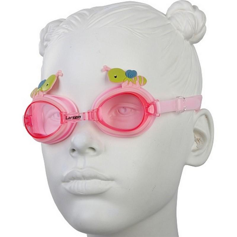 Очки для плавания детские Larsen DR30 Пчелка розовый