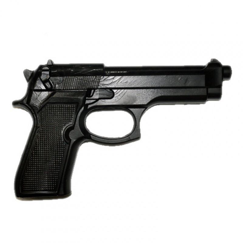 Пистолет тренировочный 1M (черный), мягкий термоэластопласт