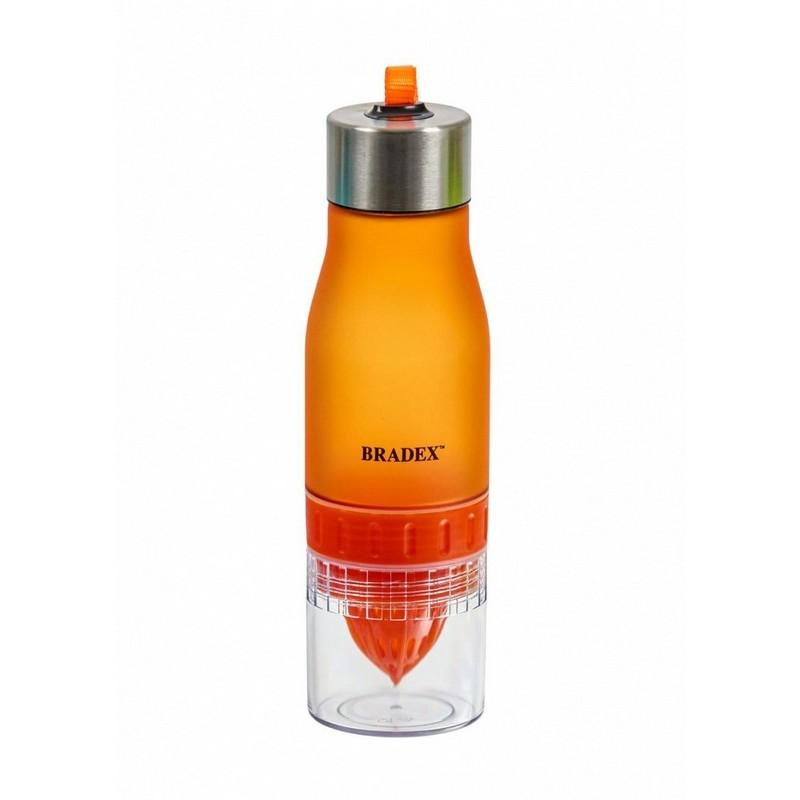 Бутылка для воды с соковыжималкой, V0,6л Bradex SF 0519 оранжевый