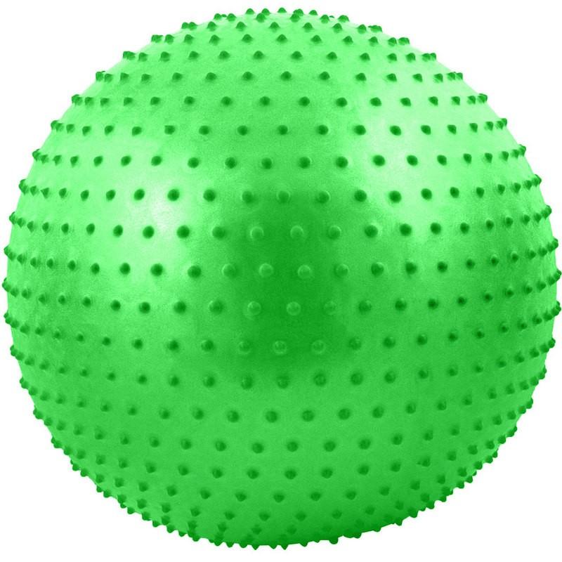 Мяч гимнастический Anti-Burst массажный 65 см FBM-65-3, зеленый