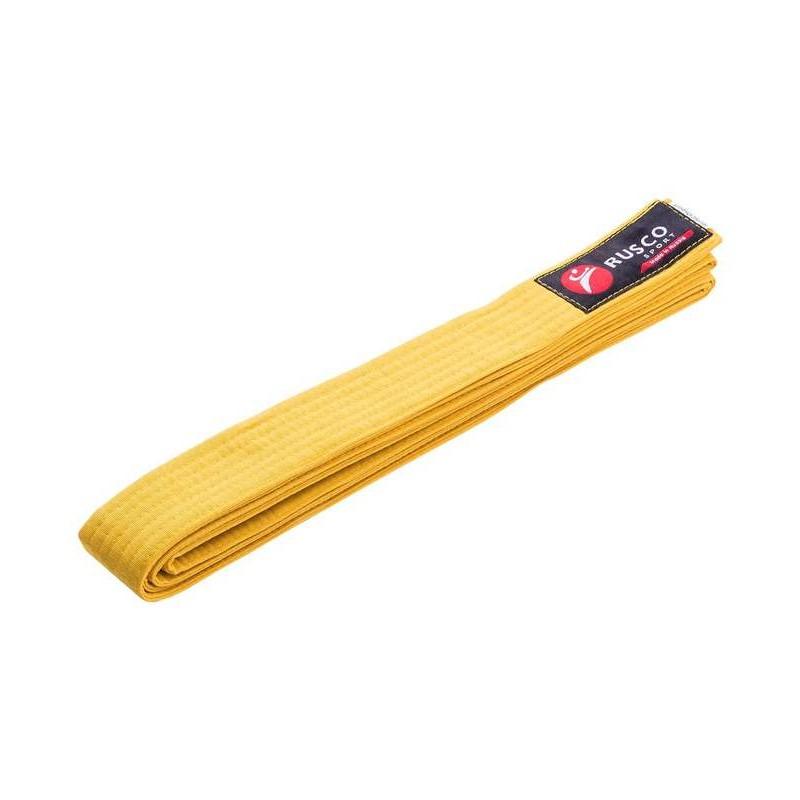 Пояс для единоборств Rusco 240 см, желтый