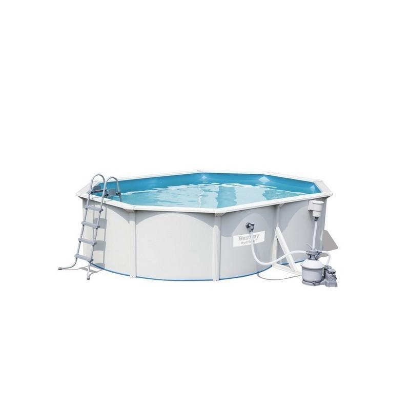 Каркасный бассейн овальный 500х360х120см+насос-фильтр Bestway Hydrium Oval Pool Set 56586