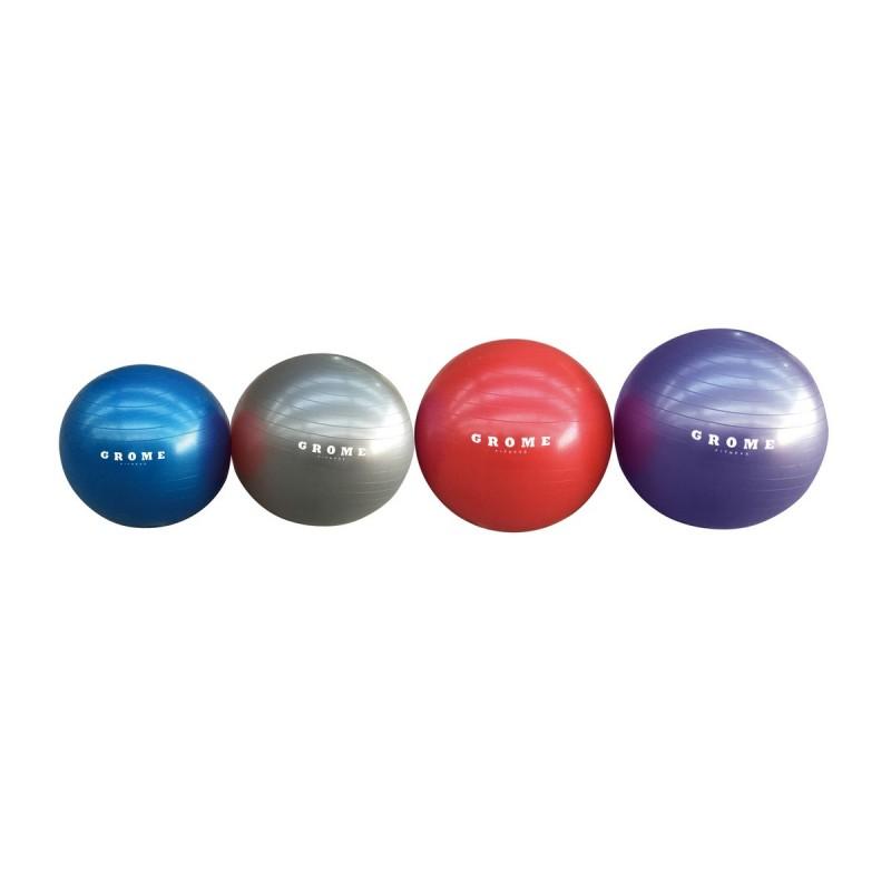 Гимнастический мяч (антивзрыв) 75 см Grome Fitness BL003 красный