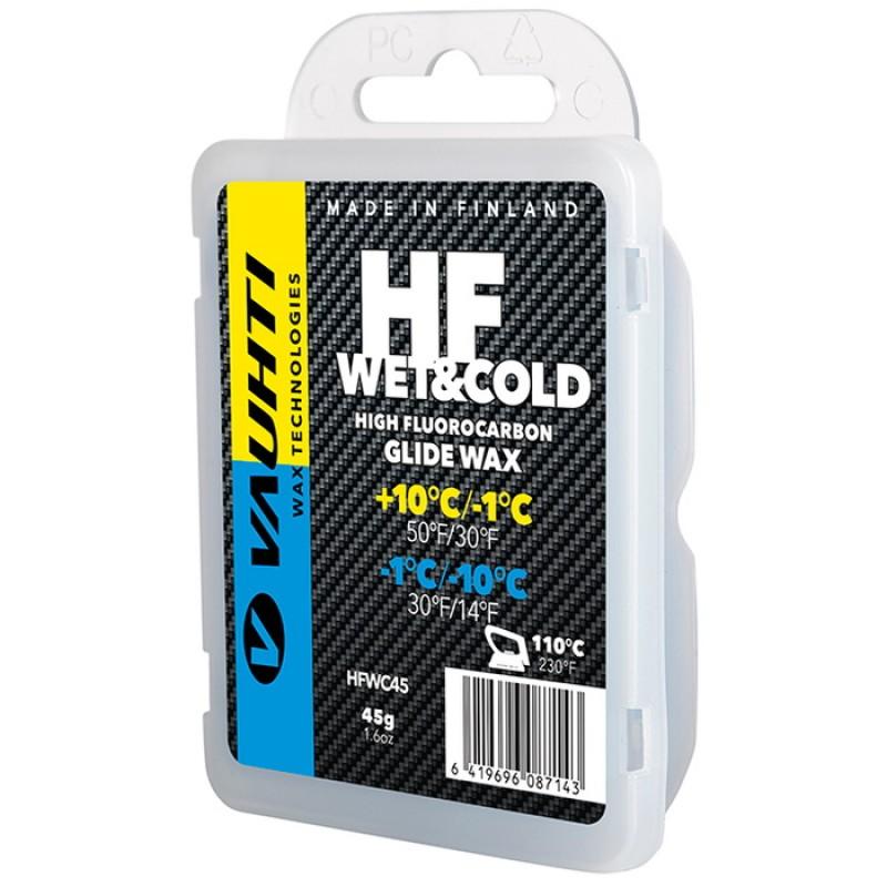 Парафин высокофтористый Vauhti HF Wet   Cold (+10°С -1°С/-1°С -10°С) 45 г.