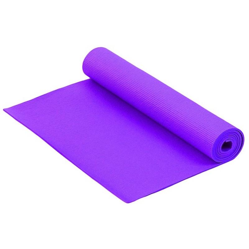 Коврик для фитнеса и йоги Larsen PVC фиолетовый р173х61х0,6см (повыш плотн)