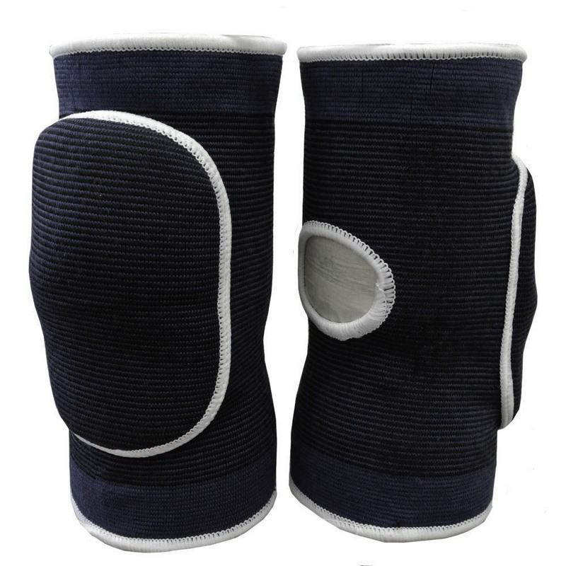 Наколенники волейбольные с дыркой NK-404 Черный\Белый