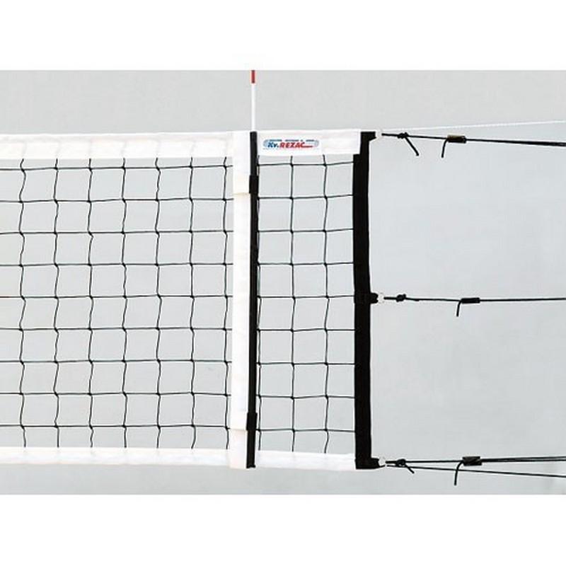 Сетка волейбольная Kv.REZAC офиц., нить 3мм ПП 15075130 черный