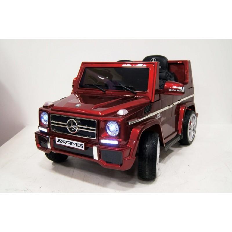 Электромобиль River-Toys Mercedes G-65 (LS528) красный глянец с ДУ (лицензия)