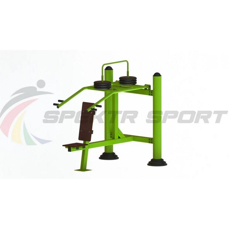 Уличный тренажер взрослый Жим вверх с изменяемой нагрузкой Spektr Sport ТС 143