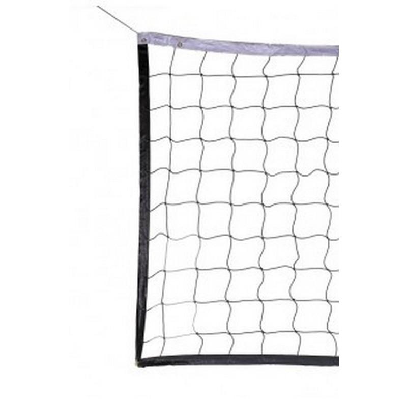 Сетка волейбол ZSO d3,0 мм, яч.100x100, размер 100x950 см,  с 4-ех сторон, верх/низ лента 5 см ПА белый