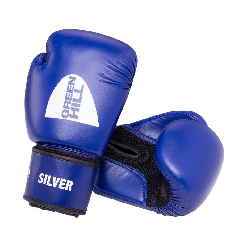Перчатки боксерские Green Hill Silver BGS-2039, 12oz, к/з, синий