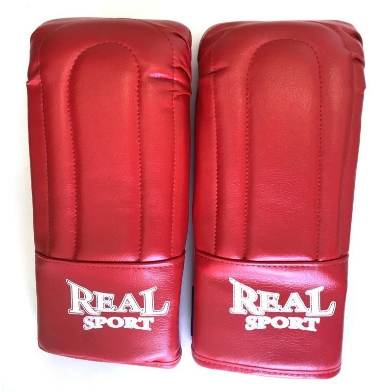 Перчатки тренировочные Real Sport красный
