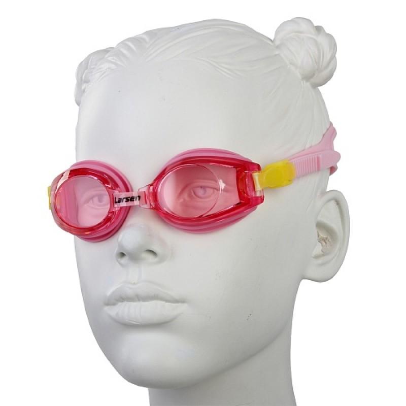Очки плавательные детские Larsen DR5 розовый