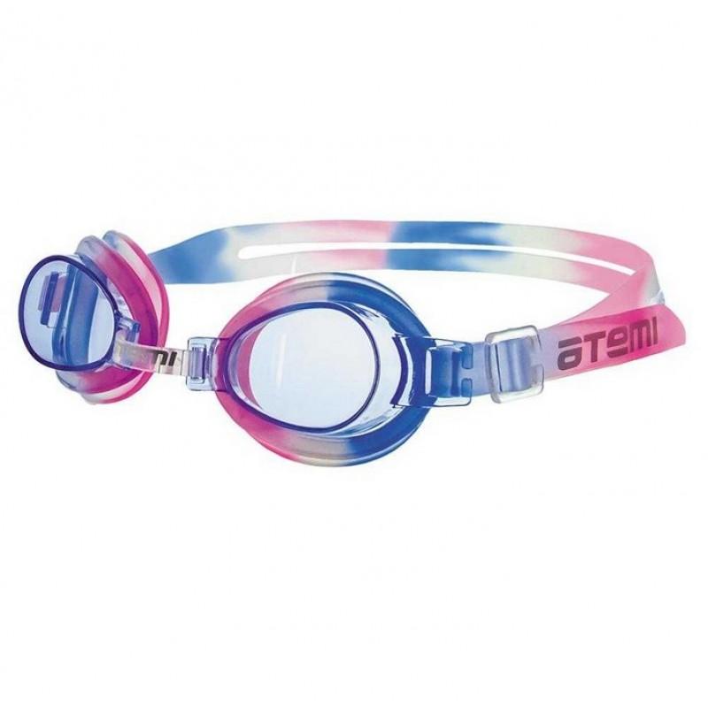 Очки для плавания Atemi силикон сине-белый S301