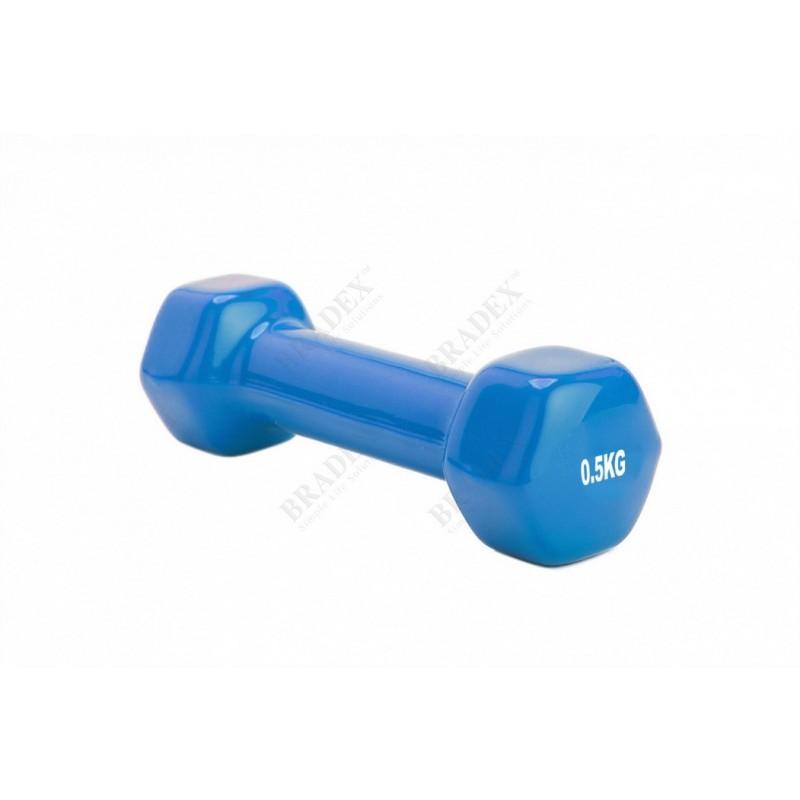 Гантель обрезиненная 0,5кг Bradex SF 0270 синий