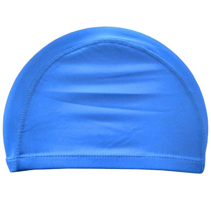 Шапочка для плавания взрослая текстиль (голубая) C33535
