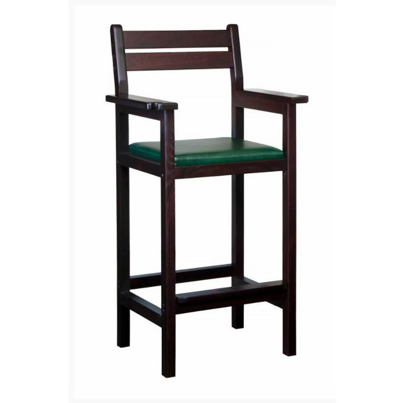 Кресло бильярдное Weekend из ясеня (мягкое сиденье) 40.502.49.1 махагон