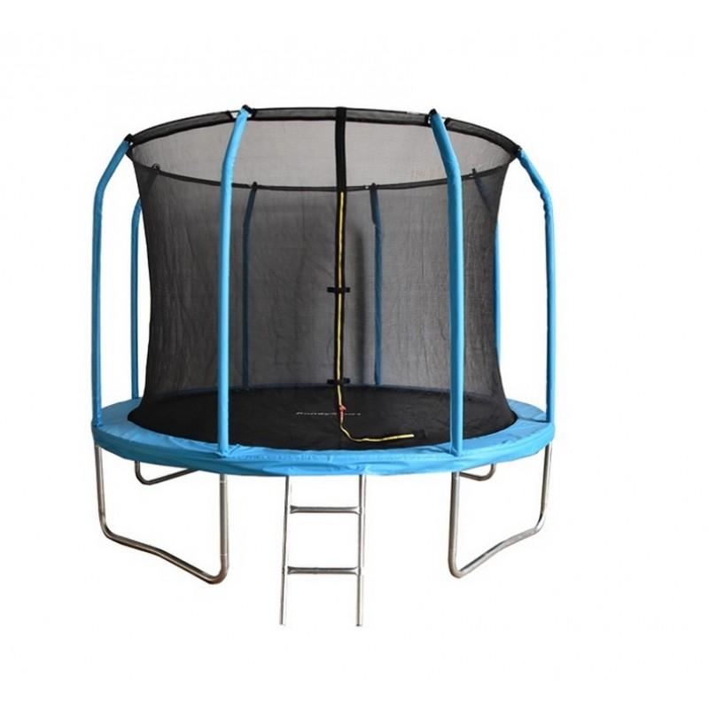 Батут Bondy Sport 8FT 244 см с сеткой и лестницей (синий) BS8FTBL